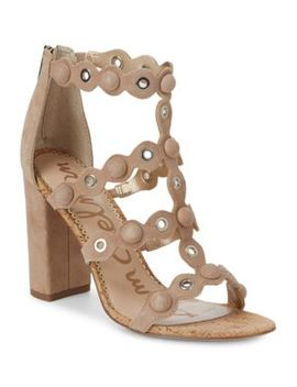 Yuli Studded Suede And Cork Pumps by Sam Edelman
