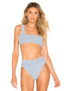 Paneled Crop Bikini Top by Peony Swimwear