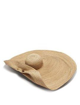 Giga Spinner Oversized Straw Hat by Lola Hats