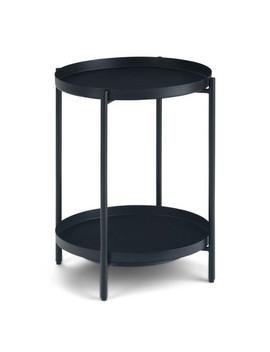 Lipton Metal End Table Black   Wyndenhall by Wynden Hall