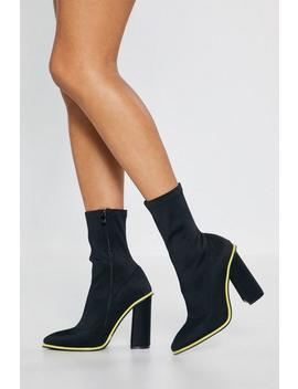 The Life And Sole Of The Party Neon Sock Boots by Nasty Gal