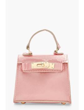 Micro Mini Patent Grab Bag by Boohoo