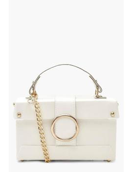 Ring Detail Structured Box Cross Body Bag by Boohoo