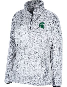Top Of The World Women's Michigan State Spartans Grey Coast To Coast Sherpa Jacket by Top Of The World