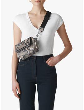 Whistles Minimal V Neck Cotton T Shirt, White by Whistles