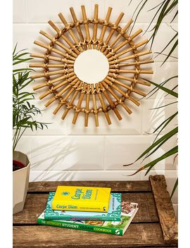 Small Rattan Spindle Mirror by Urban Outfitters