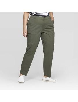 Women's Plus Size Slim Fit Chino Pants   Ava & Viv™ by Ava & Viv