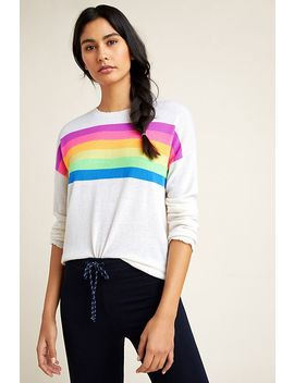 Sundry Rainbow Striped Sweater by Sundry
