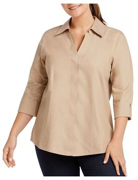 Taylor Blouse by Foxcroft Plus