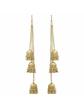 Jwellmart Afghani Bohemian Kashmiri Style Oxidized Drop Dangle Indian Earrings For Women And Girls by Jwellmart