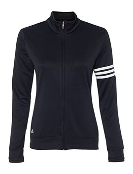 Adidas Ladies' Climalite 3 Stripes French Terry Full Zip Jacket A191 by Adidas