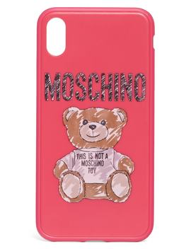 Scribble Teddy Logo I Phone Xs/Xs Max & Xr Case by Moschino
