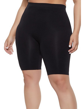 Plus Size Seamless Bike Shorts | 1960061634779 by Rainbow