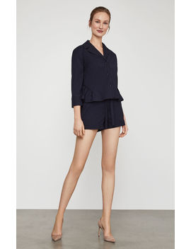 Button Front Peplum Blouse by Bcbgmaxazria