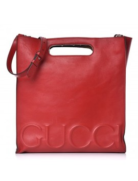 Gucci Calfskin Medium Xl Tote Red by Gucci