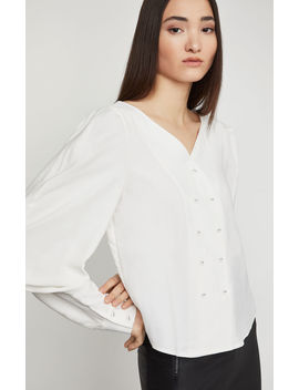 Pleated Shoulder Blouse by Bcbgmaxazria