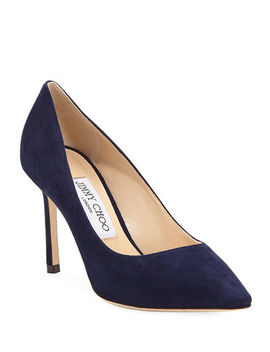 Jimmy Choo Romy Suede 85mm Pump by Jimmy Choo