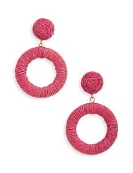 Wrapped Circle Drop Earrings by Panacea