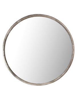 "36"" Simple Galvanized Round Mirror by Pier1 Imports"