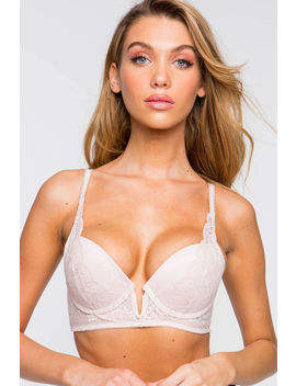 Georgiana V Plunge Demi Push Up Bra by A'gaci
