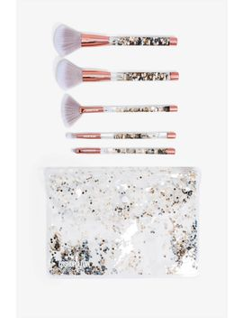 Water Glitter 5pc Brush Set by A'gaci