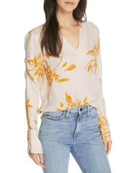 Galvin Floral Silk Top by Joie