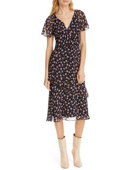 Orita B Floral Silk Midi Dress by Joie