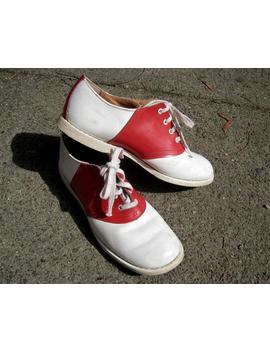 "<Span Data Preview Title="""">Vintage 50s Red & White Saddle Shoes 