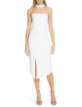 Sia Strapless Choker Collar Dress by Alice + Olivia