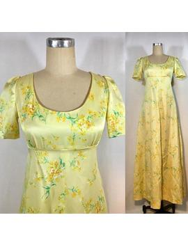 Vintage 70s Floral Maxi Dress by Etsy