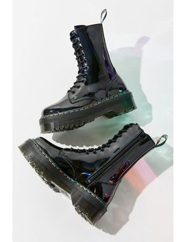 Dr. Martens Jadon Hi 10 Eye Rainbow Boot by Dr. Martens