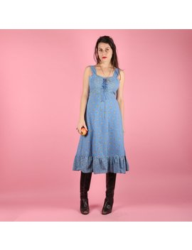 "<Span Data Inner Title="""">70s Prairie Dress // 70s Vintage Dress // 70s Dress Midi Dress Cotton Dress Summer Dress Sun Dress Floral Vintage Prairie Dress Size Small S</Span> by Etsy"