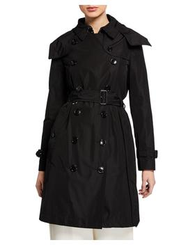 Kensington Double Breasted Trench Coat W/ Detachable Hood by Burberry
