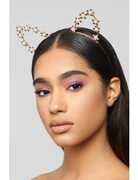 Main Cat Headband   Gold by Fashion Nova
