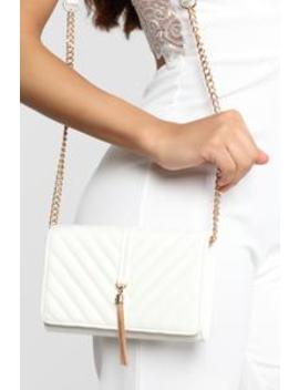 Adorn You Crossbody Bag   White by Fashion Nova