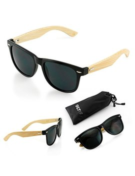 Oct17 Wood Bamboo Sunglasses Wooden Mens Womens Vintage Eyewear by Oct17