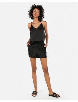 Satin Cropped Cami by Express