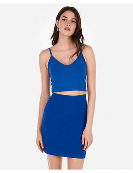 Express One Eleven V Neck Cropped Cami by Express