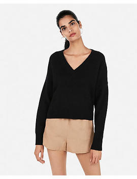 Cozy Abbreviated V Neck Sweater by Express