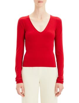Low V Neck Sweater by Theory