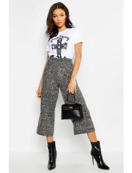 Petite Knitted High Rise Culotte by Boohoo