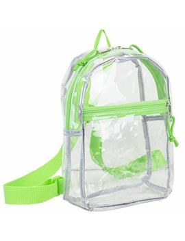 Eastsport 100 Percents Transparent Clear Mini Backpack (10.5 By 8 By 3 Inches) With Adjustable Straps by Eastsport