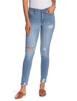 Distressed High Rise Skinny Jeans by Madewell