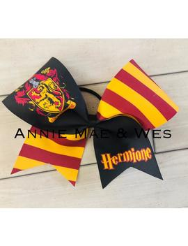 Harry Potter Cheer Bow   Hermoine Cheer Bow   Halloween Cheer Bow by Etsy