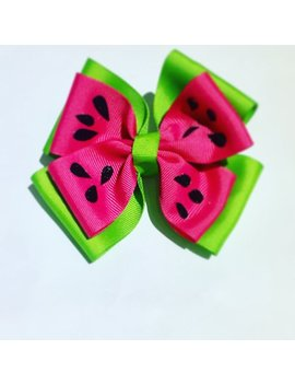 Summer Watermelon Hair Bow by Etsy