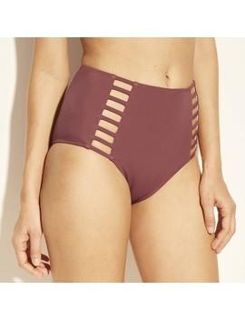 Women's Sun Coast Cheeky Strappy High Waist Bikini Bottom   Shade & Shore™ Dusty Rose Pink by Shade & Shore