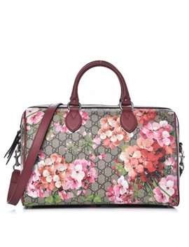 Gucci Gg Supreme Monogram Blooms Medium Top Handle Bag Antique Rose by Gucci