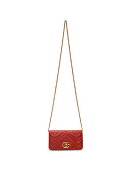 Red Quilted Marmont 2.0 Bag by Gucci