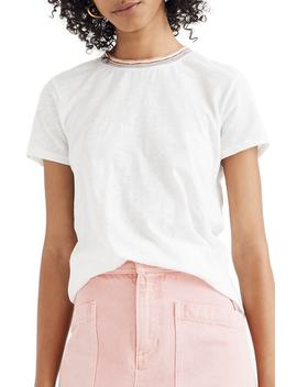 Whisper Cotton Rainbow Ringer Crewneck Tee by Madewell