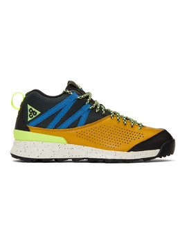 Yellow Acg Okwahn Ii Sneakers by Nike Acg